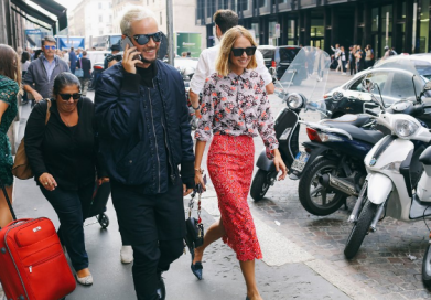 Candela Novembre wearing Marco de Vincenzo. Milan Fashion Week. Credit Vogue Magazine